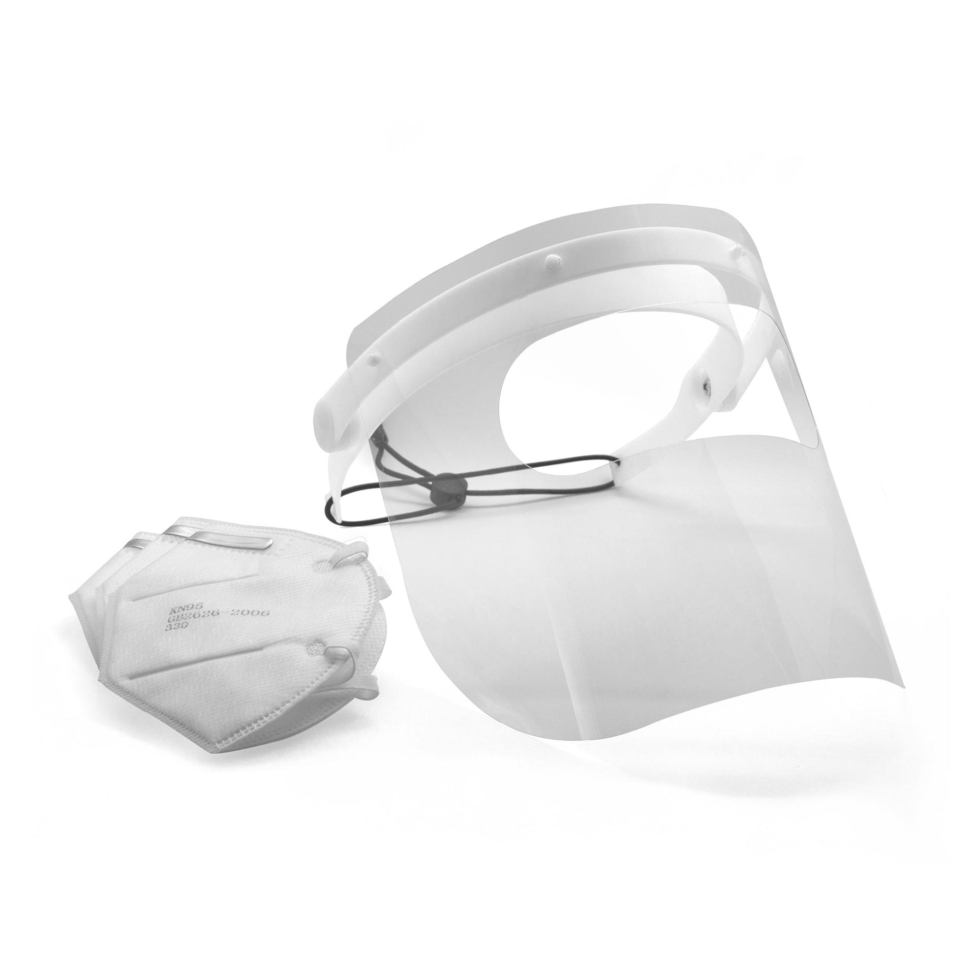 Bundle Gesichtsschutz F mit 50 Stück Atemschutzmasken KN95