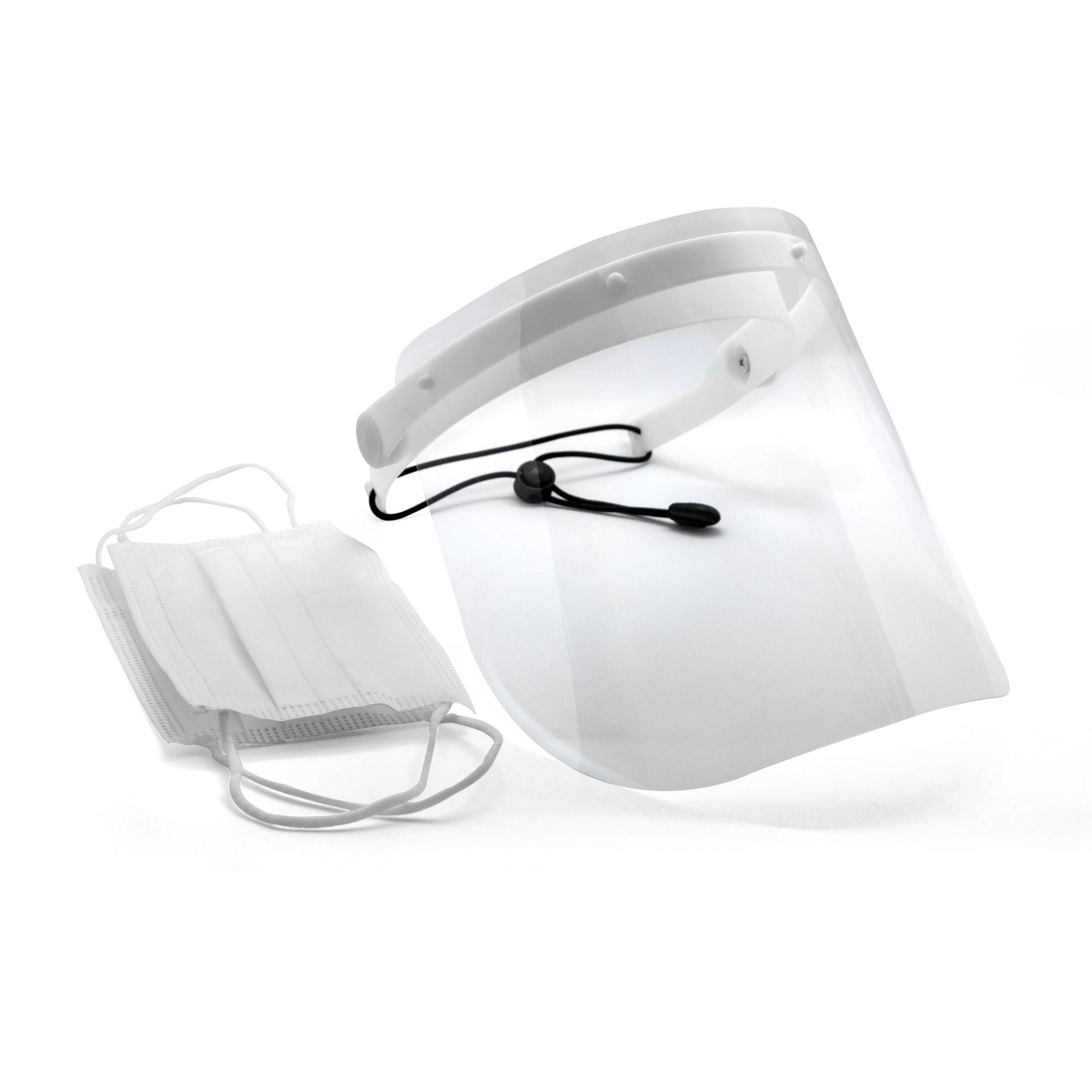 Bundle Gesichtsschutz E mit 50 Stück medizinischen Einwegmasken Typ IIR
